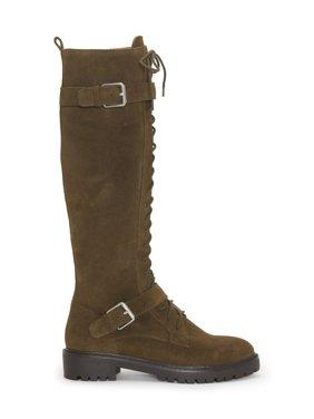 Lucky Brand Inniko Knee High Combat Lace Up Lug Sole Moto Lug Sole Boots