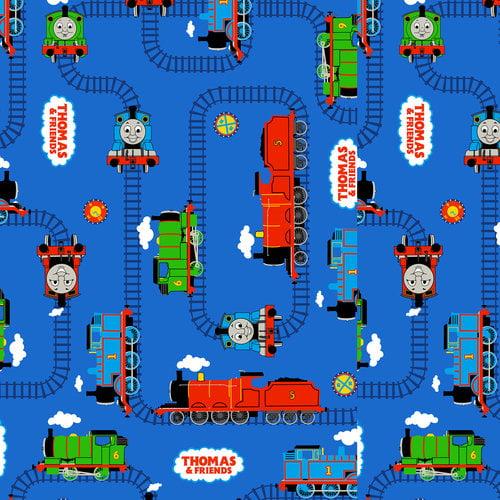 VIP Fabrics Thomas The Tank Tracks Fabric
