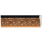 "Picture Frame Moulding (Wood) - Ornate Gold Finish - 2.75"" width - 1/2"" rabbet depth"