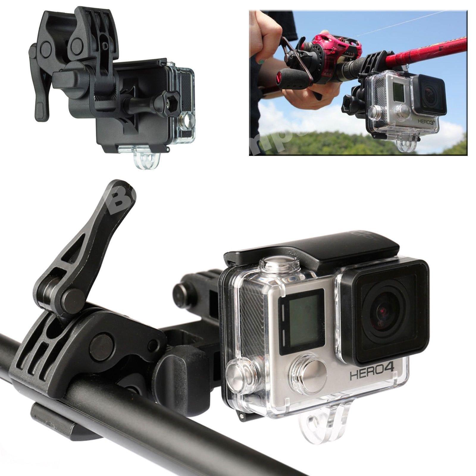 Universal Shotgun Fixed Clip Fishing Rods Bow Arrow Mount For GoPro Hero 2 3 4
