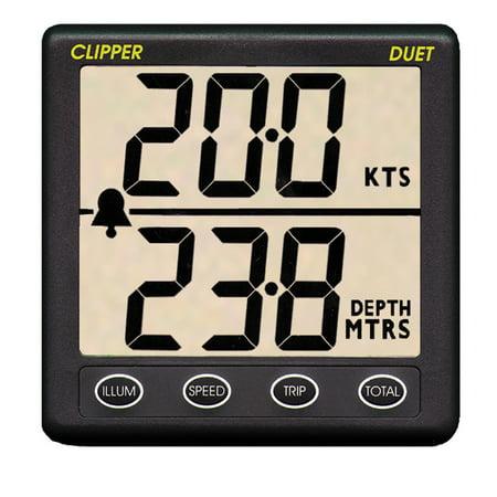 CLIPPER DUET INSTRUMENT DEPTH SPEED LOG WITH (Clipper Speed Log Instrument)