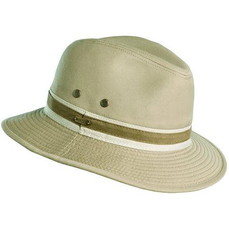 8998119d03cf8a Stetson - Classic Men's Washed Twill Safari Hat KHAKI L - Walmart.com