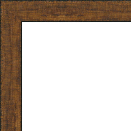 - 5x7 Rustic Scratched Brown Wood Frame - Great for Posters, Photos, Art Prints, Mirror, Chalk Boards, Cork Boards an