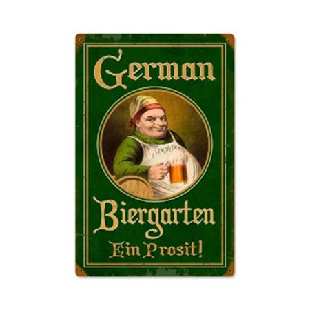 Past Time Signs PTS326 German Biergarten Food And Drink Vintage Metal Sign for $<!---->