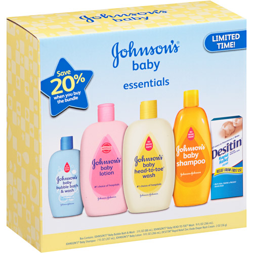 Johnson's Bathtime Essentials Baby Set
