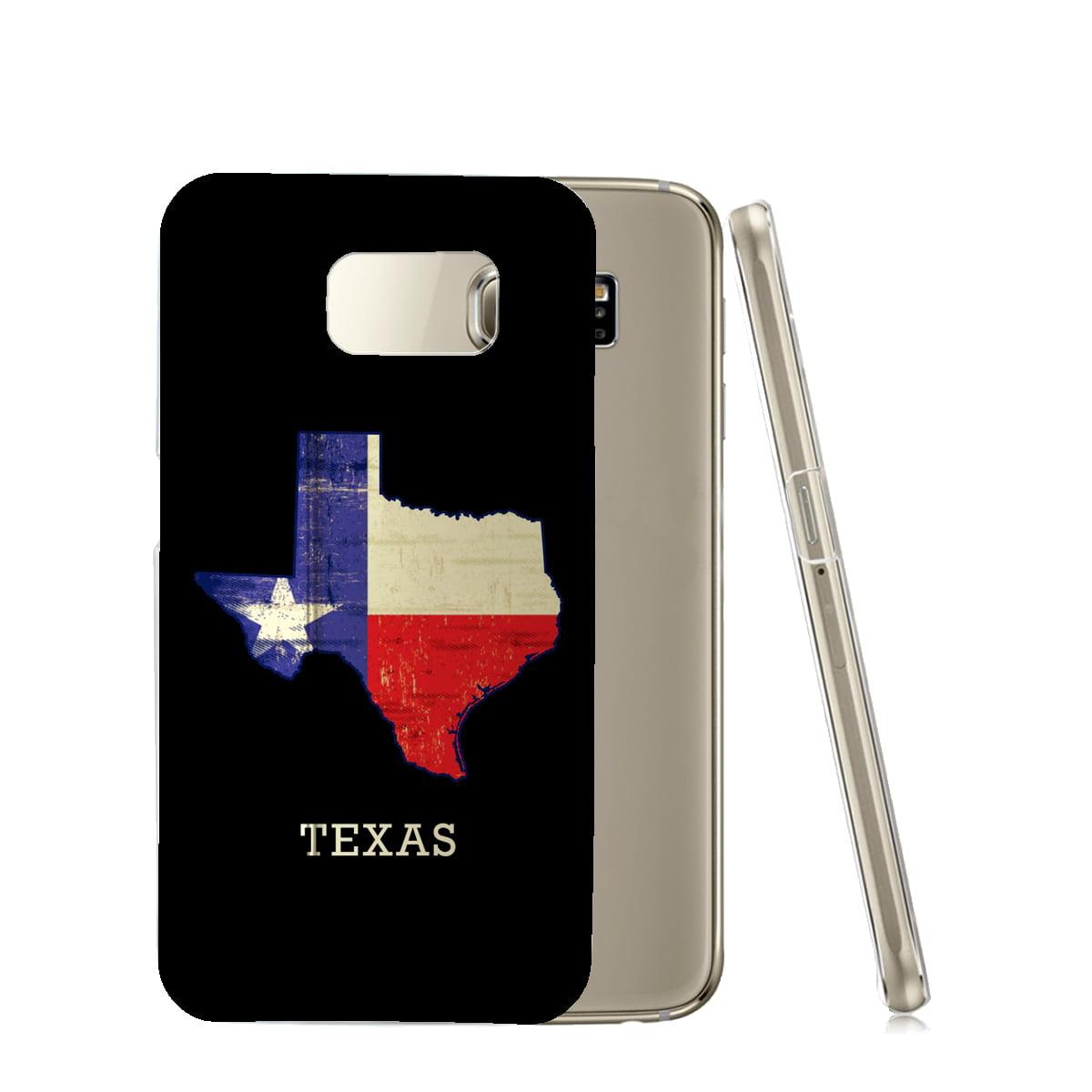 KuzmarK™ Samsung Galaxy S6 Edge Clear Cover Case - State of Texas Flag