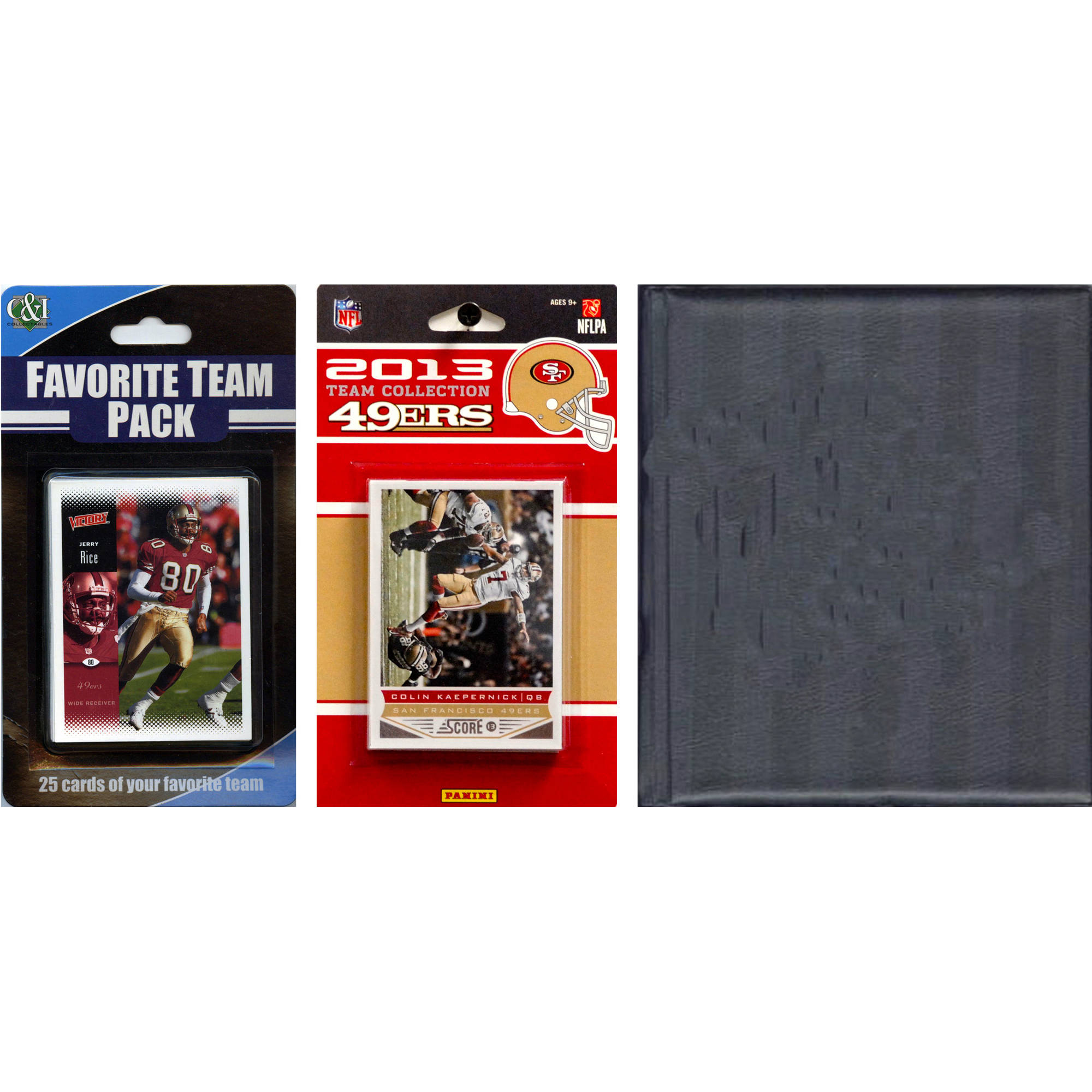 C&I Collectables NFL San Francisco 49ers Licensed 2013 Score Team Set and Favorite Player Trading Card Pack Plus Storage Album