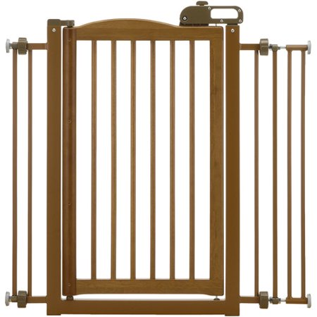 Richell One Touch Pet Gate Brown Walmart Com