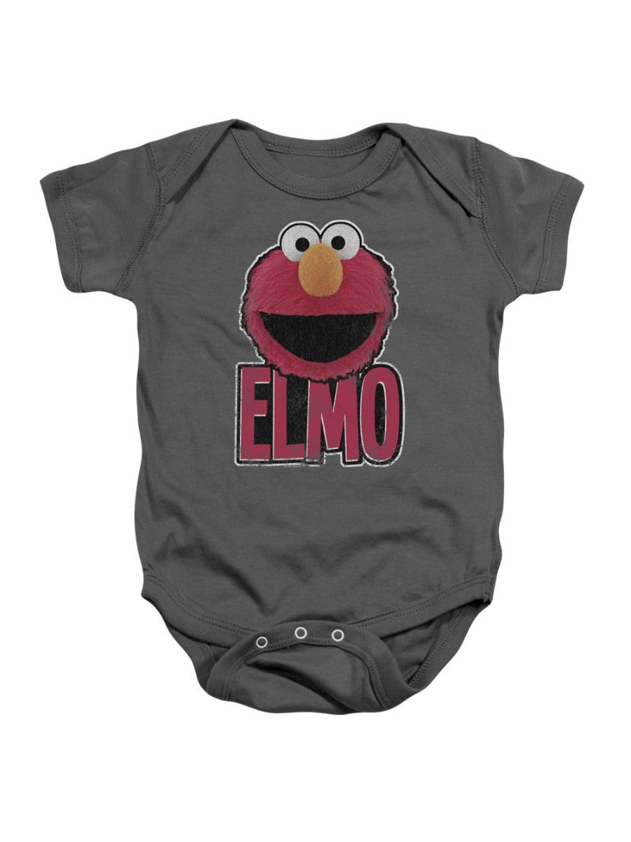 Sesame Street Classic Children's TV Show Elmo Smile Infant Romper Snapsuit