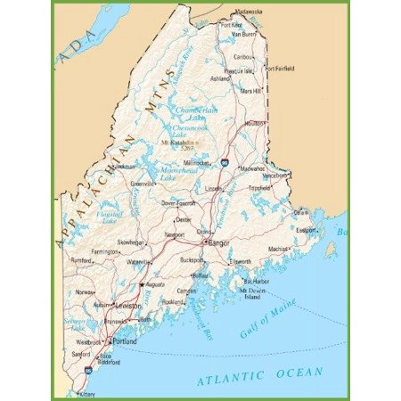 Canvas Print Maine State Road Map Glossy Poster Banner City Highway on maine map directions, east west highway maine map, maine atlas map, bar harbor maine map, maine university logo, acadia national park map, maine campus map, maine toll road, maine city map, maine interstate map, maine narrow gauge railroad map, lewiston maine map, maine zone map, maine hotel map, rockland maine map, route 1 maine map, forts of maine map, portland maine map, maine map of usa showing, maine road atlas,
