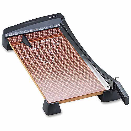 """X-ACTO Heavy-Duty Guillotine Paper Trimmer, Wood Base, 12"""" x 24"""""""
