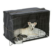 "MidWest Dog Crate Starter Kit 30"" Double Door iCrate, Pet Bed, Crate Cover & 2 Pet Bowls"