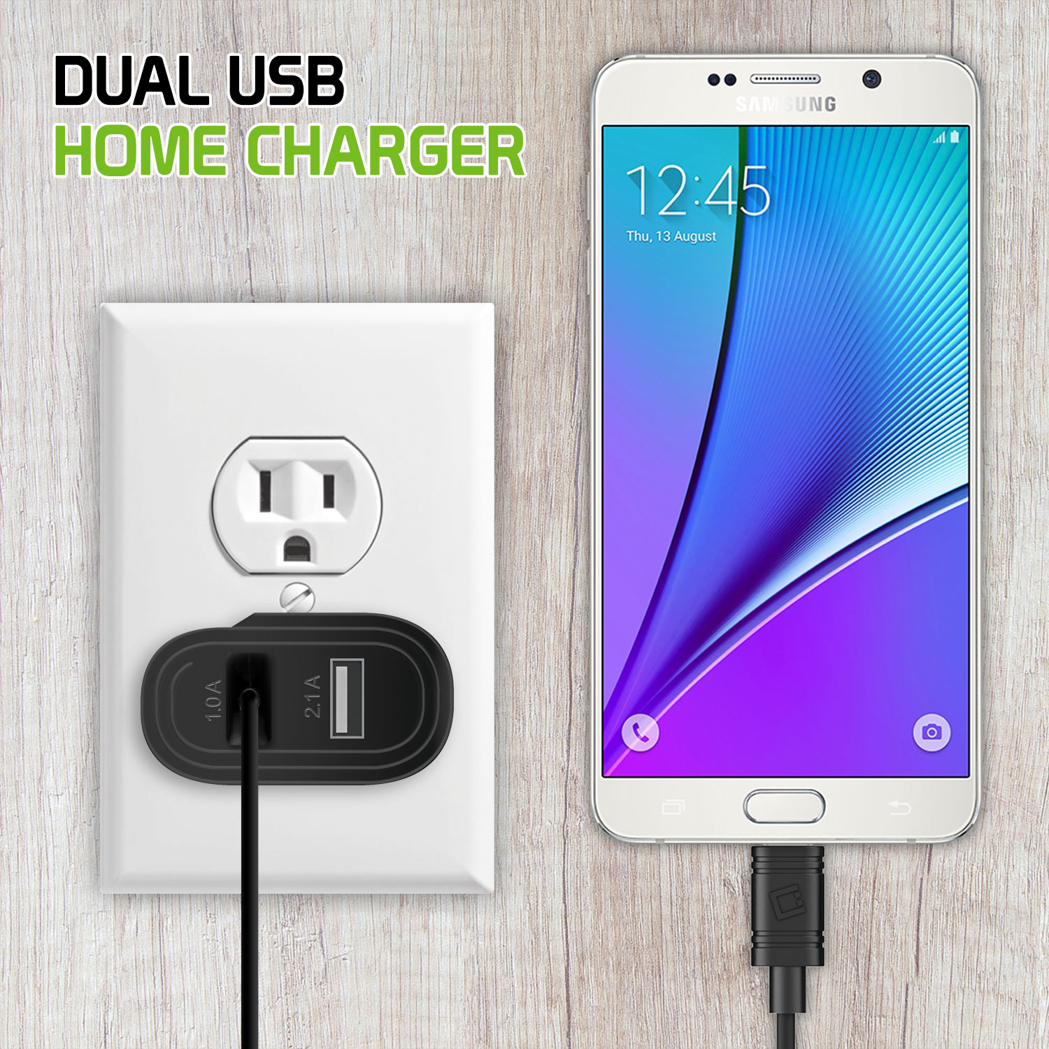 Cellet Dual Usb Home Charger 2.1amp 10 Watt Wall Charger ...