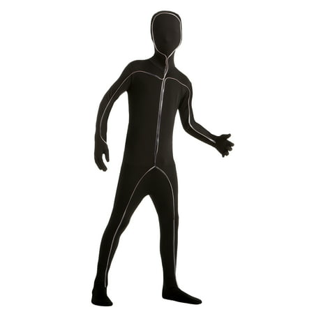 Boy Light Up Stick Figure Bodysuit Large Halloween Dress Up / Role Play Costume