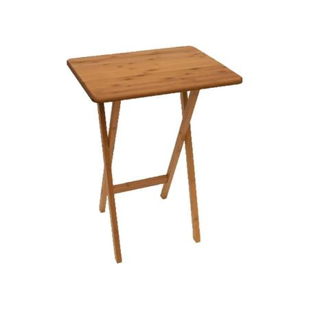 Lipper International 803 Foldable Bamboo Rectangular Snack Table Dinner Tray for $<!---->