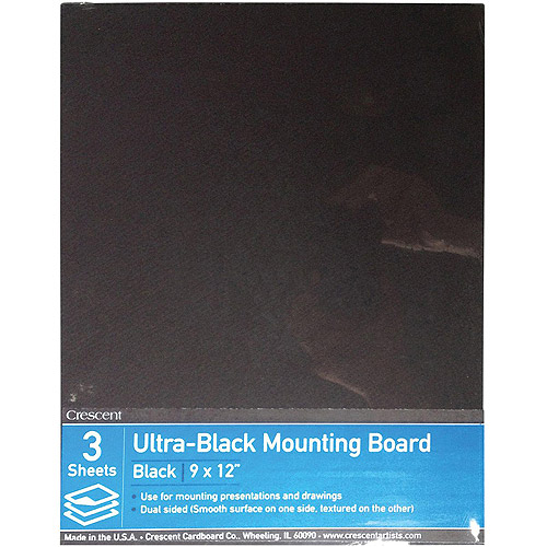 "Crescent Ultra-Black Mounting Board Value Pack, 3pk, 9"" x 12"""