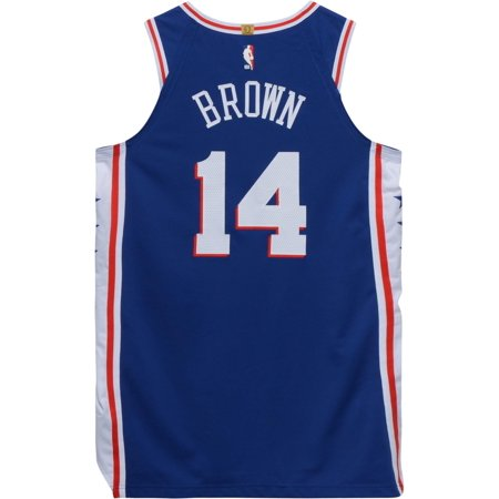 brand new 0d86d 234dc Anthony Brown Philadelphia 76ers Game-Used #14 Blue Jersey from the 2018  NBA Preseason - Size 48+4 - Fanatics Authentic Certified