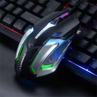 LED Cable Game Mouse Professional 4-Button 1600DPI Adjustable Optical Mouse