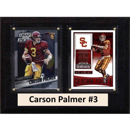 "C & I Collectables NCAA 6"" x 8"" Carson Palmer USC Trojans 2 Card Plaque"