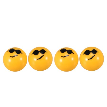 4Pcs Bicycle Ball Valve Caps with Cute Emoji Pattern Air Valve Caps Tyre Valve Dust Covers for MTB Motorcycle Bicycle