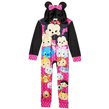 5c4b6620d AME KIDS - Tsum Tsum Girls Fleece Union Suit One Piece Pajamas ...