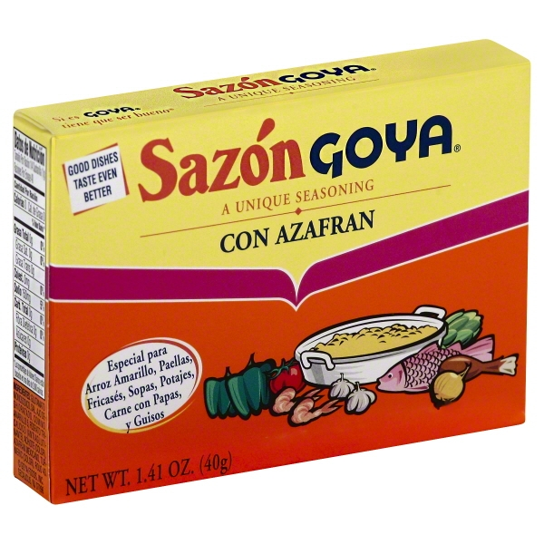 (4 Pack) Spice Sazon With Asafran