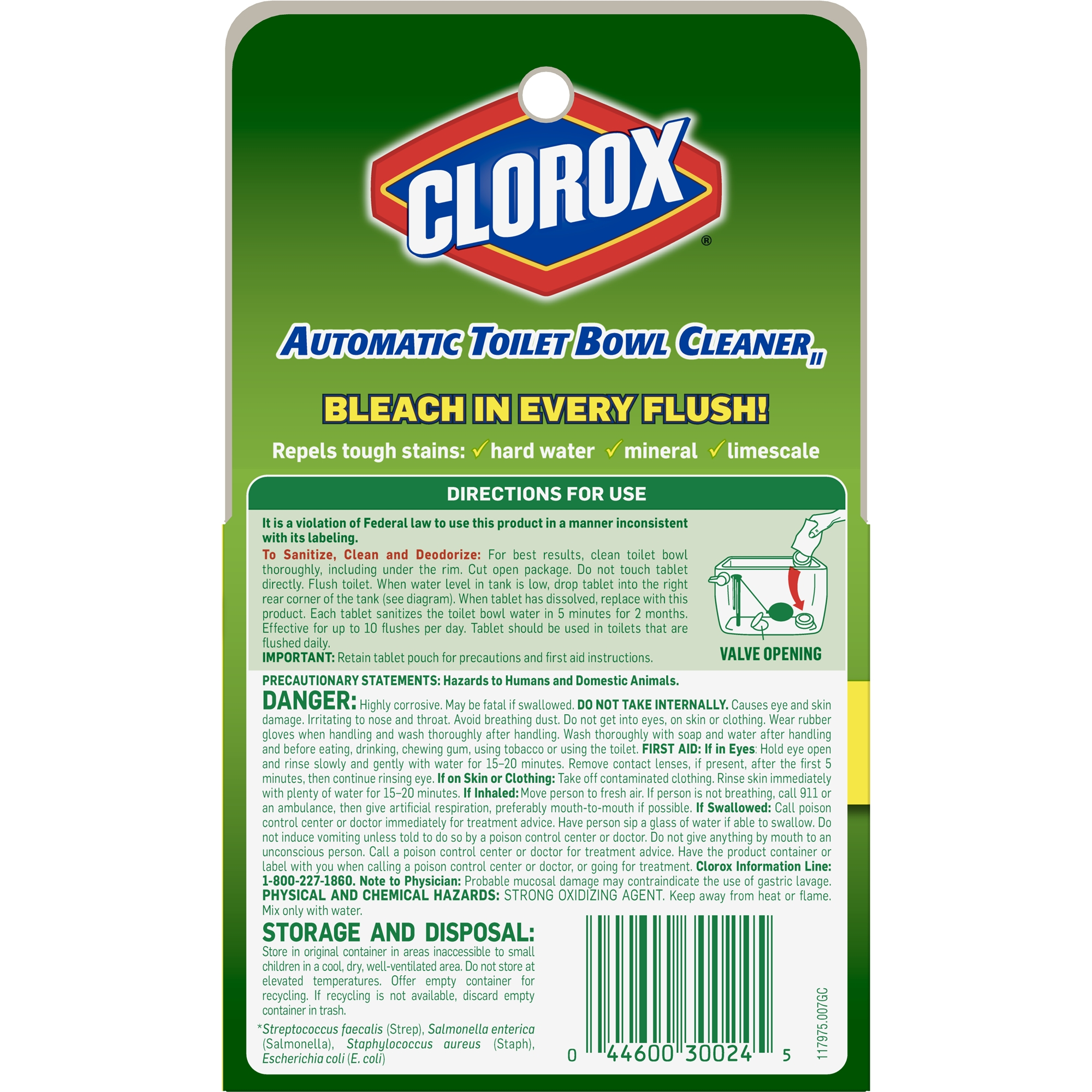 Clorox Automatic Toilet Bowl Cleaner Tablets With Bleach 2 Ct