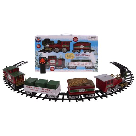 Lionel North Pole Central Battery-powered Model Train Set Ready To Play with (Lionel Graduated Trestle Set)