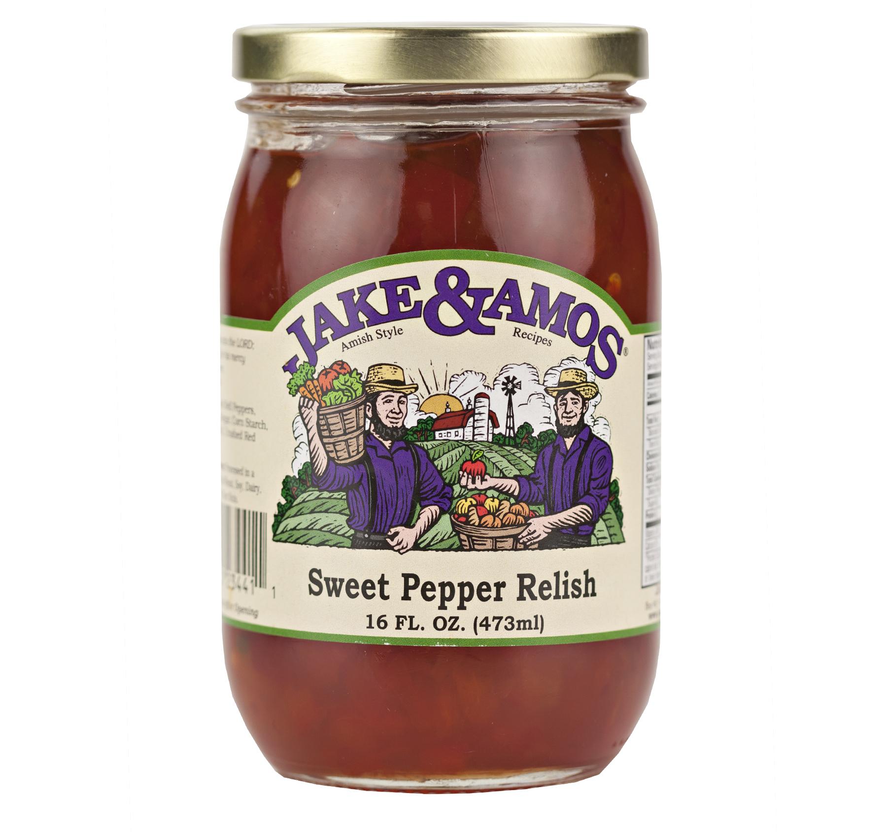Jake & Amos Sweet Pepper Relish 16 oz. Jar (2 Jars)
