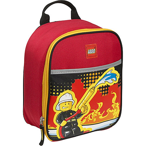 LEGO Fire City Nights Vertical Lunch Bag