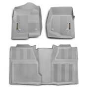 Goodyear 240025 Front Pair & Rear Over Hump Floor Liner - Grey, 2009-2014 Ford F150 Super Cab