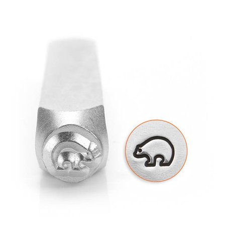 ImpressArt Metal Punch Stamp, Zuni Bear Design 6mm (1/4 Inch), 1 Piece, (Punch Home & Landscape Design Essentials V19)