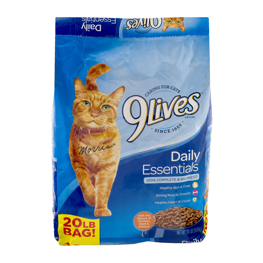 9 Lives Daily Essentials Dry Cat Food, 20 lb by Big Heart Pet Brands