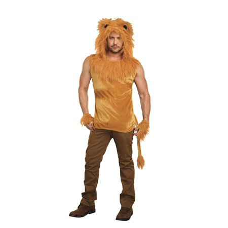 Dreamgirl Men's King Of The Jungle Lion Costume Shirt - Jungle Theme Costume