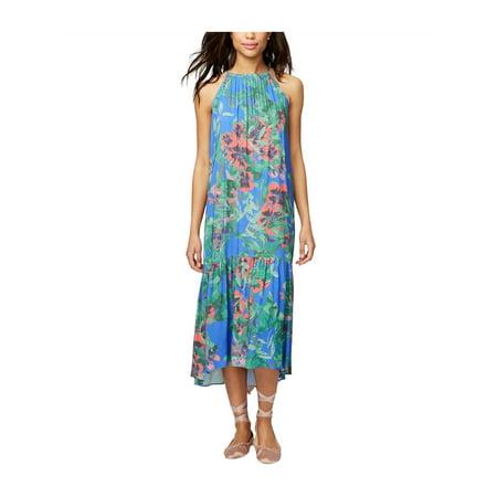Rachel Roy Womens Floral High Waist Dress brightblue 2XL - image 1 de 1