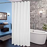 Fabric Shower Curtain 36 x 72 Inch Aoohome Stall Size Bathroom Curtain for Hotel with Weighted Hem Mildew Resi