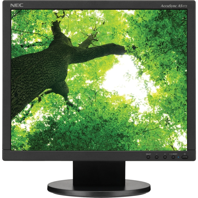 "NEC Display AccuSync AS172-BK 17"" LED LCD Monitor - 5:4 - 5 ms - Adjustable Display Angle - 1280 x 1024 - 16.7 Million Colors - 250 Nit - 1,000:1 - SXGA - DVI - VGA - 11 W - Black - ENERGY STAR 6.0, E"