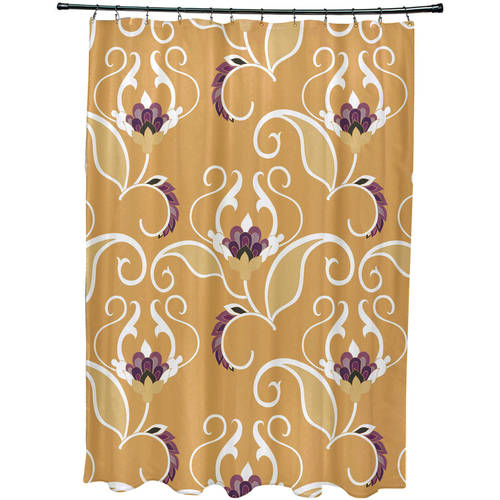 """Simply Daisy 71"""" x 74"""" West Indies Floral Print Shower Curtain"""