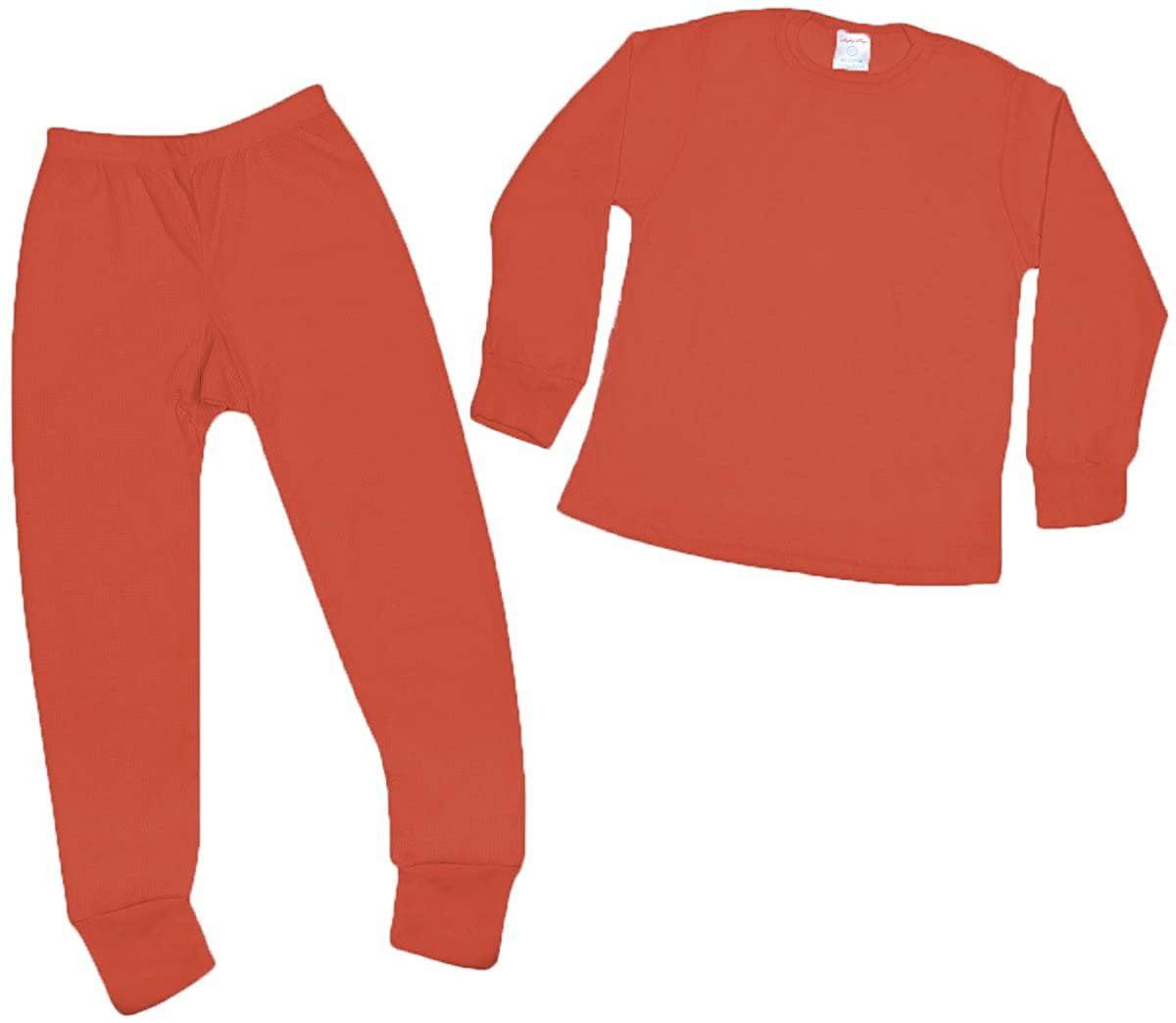 Premium Boys Thermal Underwear Set Waffle Knit Warm /& High Moisture Wicking