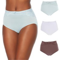 """Rhonda Shear """"Ahh"""" Seamless Brief 3-pack with Lace Overlay_586848SE8481"""