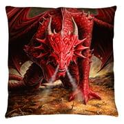 Anne Stokes Dragon'S Lair Throw Pillow White 18X18