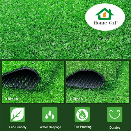 Home Cal Artificial Grass Rug Series Landscape Outdoor Decorative Synthetic Turf Pet Dog Area with Neat Edge 2cm 40