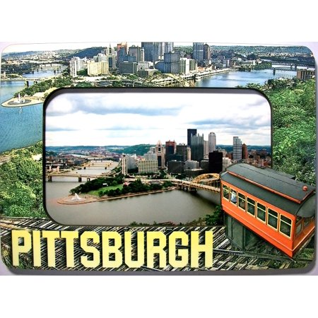 Pittsburgh Pennsylvania with Duquesne Incline Picture Frame Fridge Magnet for $<!---->