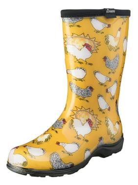 Sloggers Women's Rain & Garden Chicken Print Boot