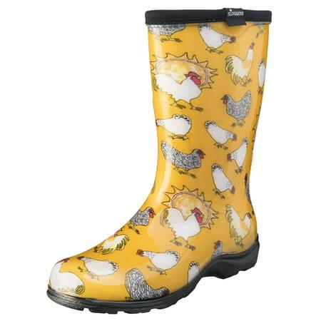 Sloggers Women's Rain & Garden Chicken Print Boot - Photo Booth Do It Yourself