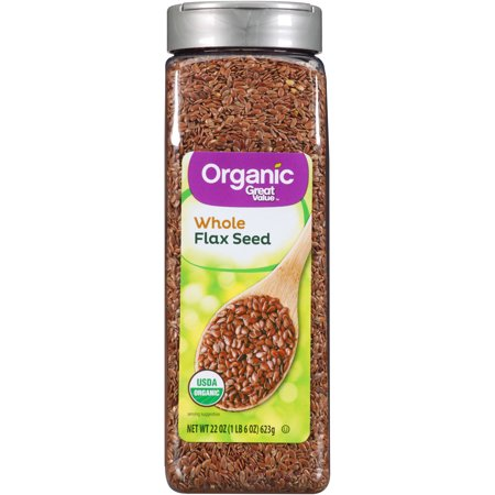 Flax Seed Gluten Free - Great Value Organic Whole Flax Seed, 22 oz