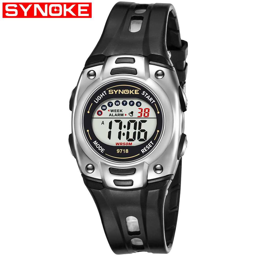 SYNOKE 9718 Child Sport Digital Waterproof Wrist Watch kid Watch