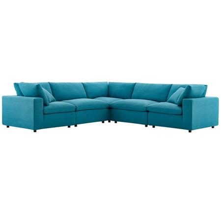 Stupendous Modern Contemporary Urban Design Living Room Lounge Club Lobby Sectional Sofa Set Fabric Aqua Blue Inzonedesignstudio Interior Chair Design Inzonedesignstudiocom