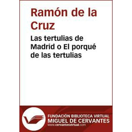 Las tertulias de Madrid o El porqué de las tertulias - eBook - Fiestas De Halloween Madrid