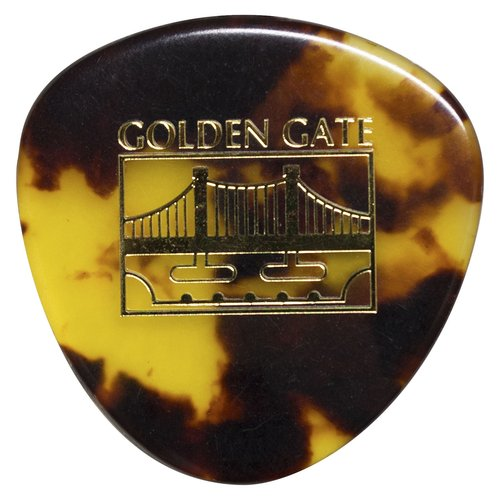 Golden Gate MP-12 Deluxe Tortoise Style Mandolin Pick, Rounded Triangle, Dozen